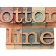 Bottom line in wood fonts — Stock Photo