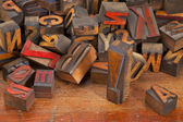 Letterpress printing blocks with exclamation point — Stock Photo