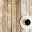 Coffee cup on grunge table — Stok Fotoğraf #5368778
