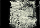 Grunge abstract textured collage — Stock Photo