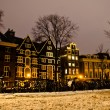 Stock Photo: Snowy Amsterdam At Night