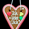 Oktoberfest Gingerbread Heart — Foto Stock