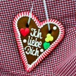 Oktoberfest Gingerbread Heart — Stock Photo