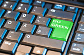 Go Green Computer Key — Stock Photo