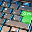 Green Go Computer Key — Stock Photo #5206267