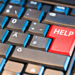 Computer Keyboard With Help Key — Stock Photo