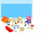 Play area camping painting theater — Stock Photo