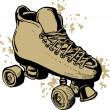 Derby Roller skates  isolated on white background — Stock Photo