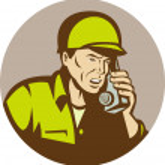 World War two american Soldier talking on radio — Stock Photo #4205985
