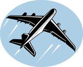 Avión jumbo despegando — Foto de Stock