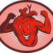 Happy and healthy  heart - Stock Photo