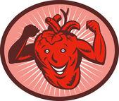 Happy and healthy heart — Stock Photo