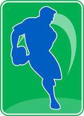 Giocatore di rugby che esegue il palla di passaggio — Foto Stock