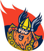 Viking warrior or norse god — Stock Photo