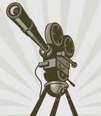 Vintage movie or television film camera — Stock Photo