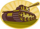 World war two battle tank aiming cannon — Stock Photo