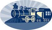 Steam train or locomotive — Stock Photo