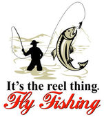 飞用飞卷轴渔夫捕鳟鱼 — 图库照片