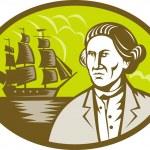 具有高船帆船船长浏览器 — 图库照片 #4357734