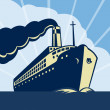 Ocean liner passenger boat ship — Stock Photo