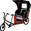 Cycle Rickshaw — Stock Photo