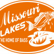 Stock Photo: Largemouth bass missouri lakes