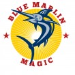 Blue marlin magic — Stock Photo