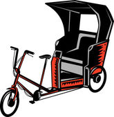 Cykl riksza — Zdjęcie stockowe