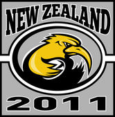 киви регби игрок с мячом новой зеландии 2011 — Стоковое фото