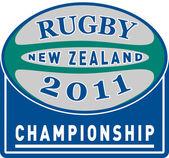 Rugby ball 2011 new zealand championship cup — Stock Photo