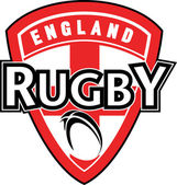 Rugby ball shield England — Stock Photo