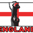 Rugby lineout throw ball england flag — 图库照片