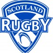 Rugby ball shield scotland flag — Stock Photo