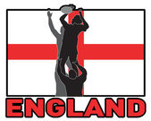 Rugby lineout throw ball england flag — Foto de Stock