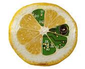Electronic lemon — Stock Photo