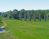 Roman aqueduct — Stock Photo