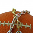Football in chains — Stock Photo