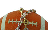 Football in chains — Stok fotoğraf