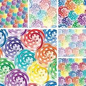 Seamless vivid swirl patterns — Stock Vector
