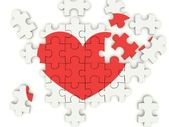 Puzzle with heart — Stock Photo