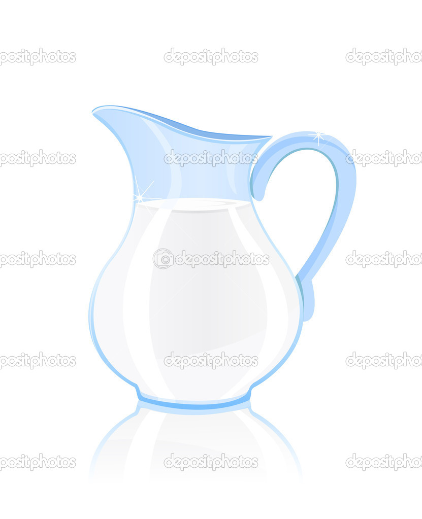 Jug of milk isolated on white background — Stock Vector #4005107