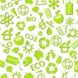 Royalty-Free Stock Vector Image: Go green eco seamless pattern