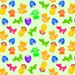 Toy animal seamless pattern — Stock Vector