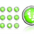 Go green eco icon set — Stock Vector #4521872