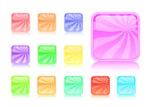 Colorful striped glossy web buttons — Stock Vector