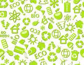 Go green eco seamless pattern — Stock Vector