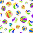 Seamless pattern with colorful beach balls — Stock Vector #4901888