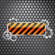 Royalty-Free Stock Vector Image: Industrial background with barrier sign and gears