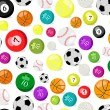 Royalty-Free Stock Vector Image: Sport balls seamless pattern
