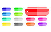 Colorful capsule icon set — Stock Vector